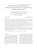 A preliminary study on the Unhelpful Thoughts and Beliefs about Stuttering (UTBAS) questionnaire in Croatia