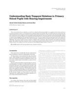 Understanding Basic Temporal Relations in Primary School Pupils with Hearing Impairments