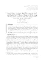 Poučavanje o arhitekturi i urbanizmu u osnovnoj školi