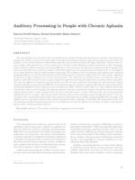 Auditory Processing in People with Chronic Aphasia